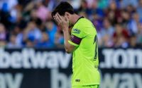Frustrated Lionel Messi