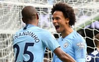 Fernandino Celebrates with Leroy Sane