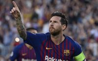 Lionel Messi Scores Hat trick against PSV Eindhoven