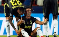 Cristiano Ronaldo gets First champions League Red Card