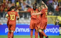 Belgium Romelu Lukaku celebrates his Goal agaimst Switzerland