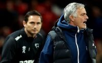 Frank Lampard and Jose Mourinho during United-derby