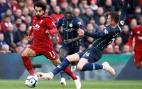 Liverpool Salah Takes On Manchester City Defenders