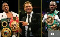 Eddie Hearn To Restart Deontay Wilder - Anthony Joshua