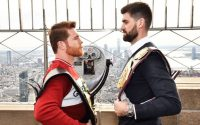 Canelo Alvarez And Rocky Fielding Face Off