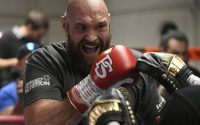 Tyson Fury Training In Gym For Deontay Wilder Clash