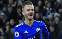 Leicester James Maddison Celebrates - Watford