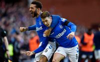 Ryan Jack Celebrates with teammates (Rangers 1 - 0 Celtic)