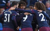 Alex Iwobi Arsenal FC and Teammates