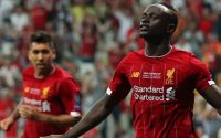 Sadio Mane Liverpool FC Scores And Celebrates With Firmino