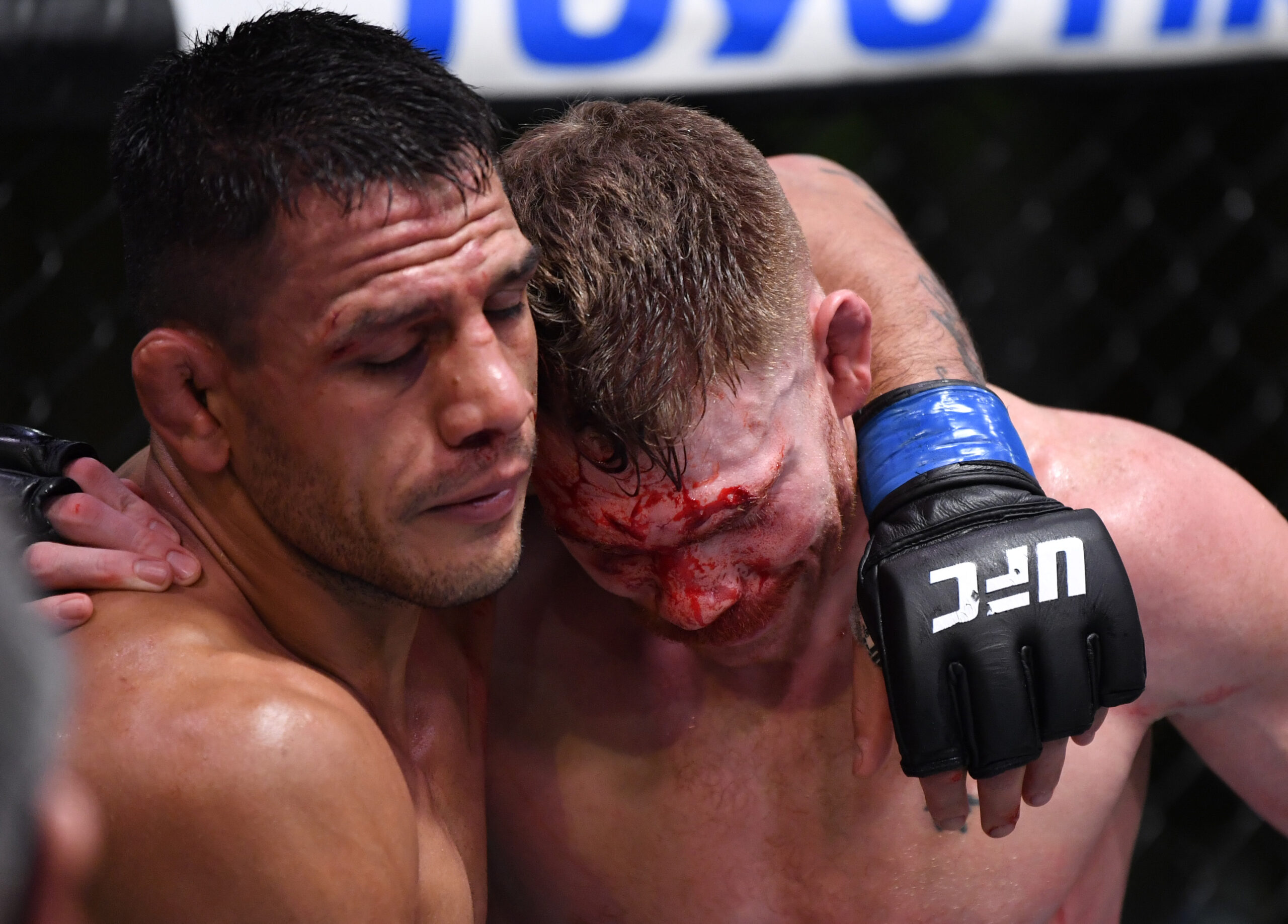 Rafael Dos Anjos And Paul Felder Share Hug After Fight