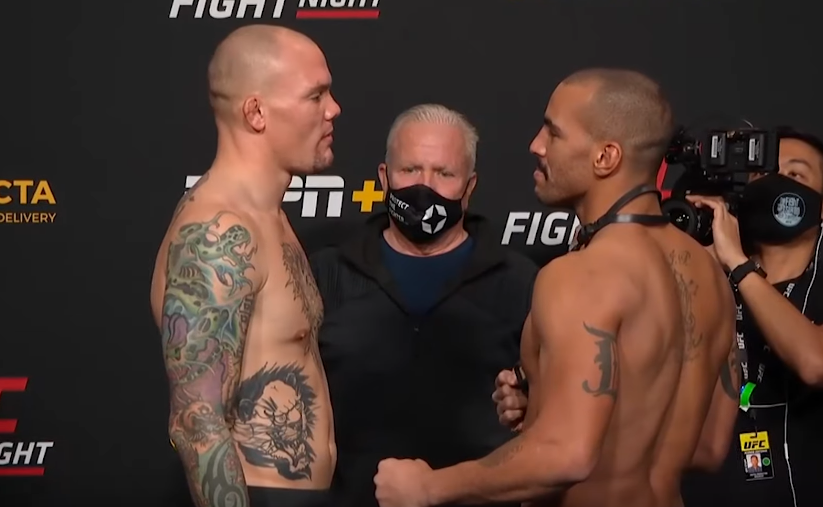 Anthony Smith Devin Clark Faceoff UFC On ESPN 18