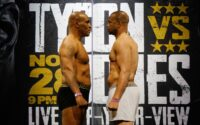 Mike Tyson Roy Jones Jr FaceOff
