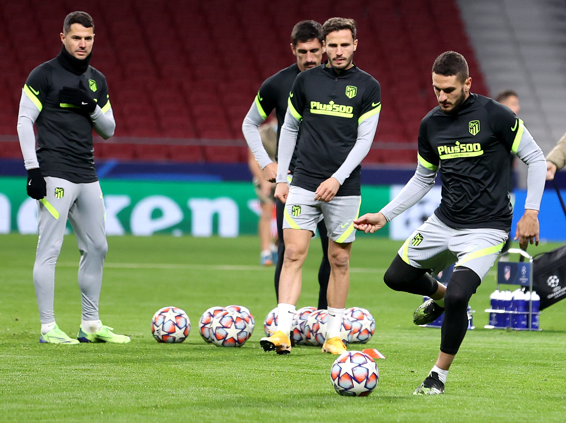 Atletico Madrid Training For Bayern Munich UCL Visit