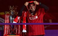 Jurgen Klopp Celebrates Premier League Title