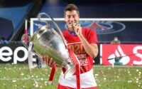 Robert Lewandowski With Bundesliga Trophy