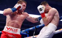 Canelo Alvarez Batters Callum Smith