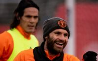 Juan Mata, Edinson Cavani Manchester United Training