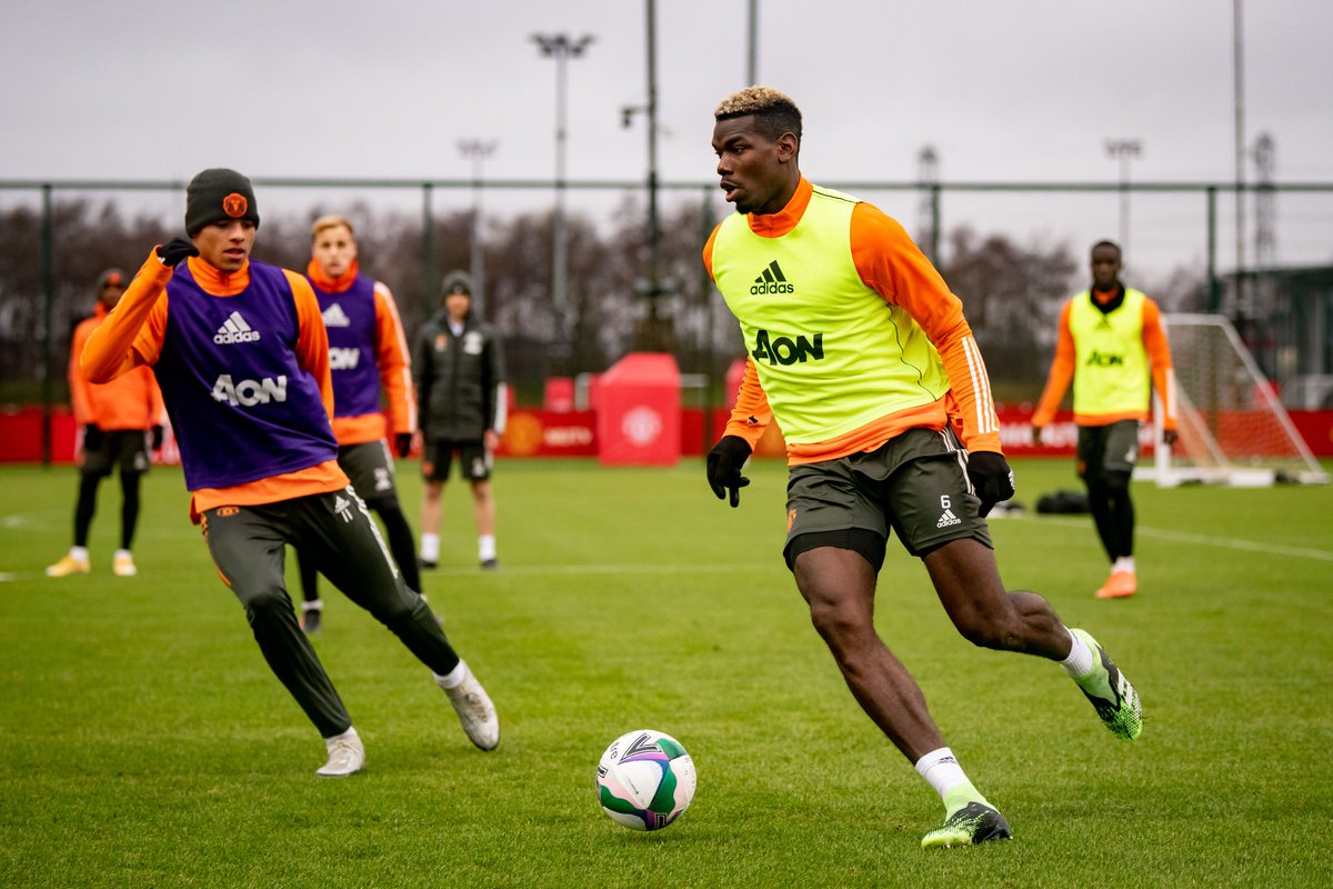 Paul Pogba During Training With Manchester United Teammates
