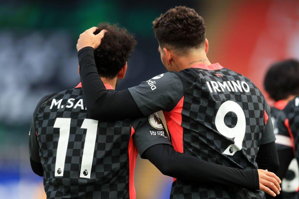 Mohamed Salah and Roberto Firmino Liverpool Crystal Palace