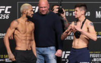 Deiveson Figueiredo, Brandon Moreno UFC 256 Weigh-in FaceOffs