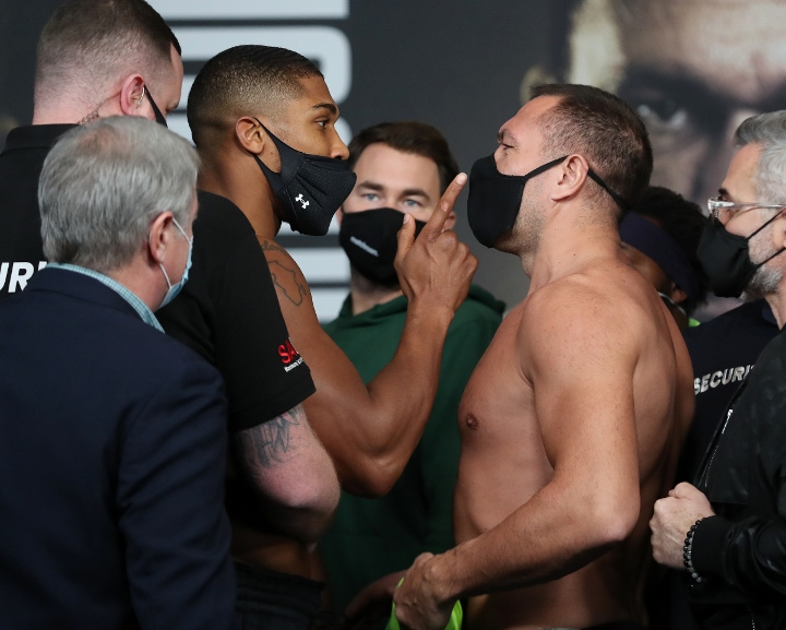 Anthony Joshua Kubrat Pulev Weigh In Alterations