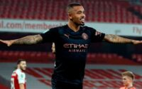 Gabriel Jesus Celebrates Goal against Arsenal FC