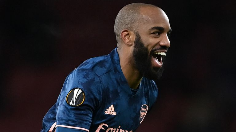 Arsenal Lacazette Arsenal Rapid Vienna