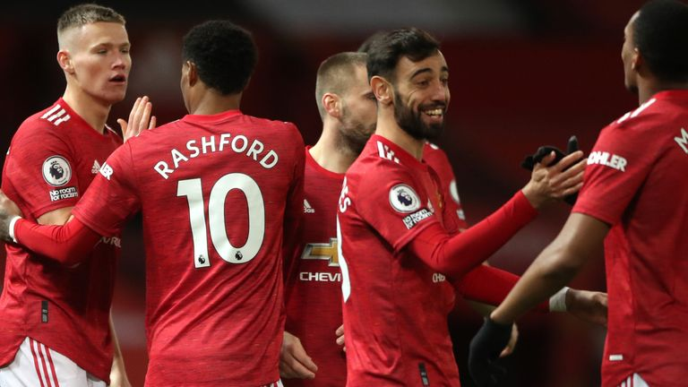 Manchester United Players Celebrate Lewds Win