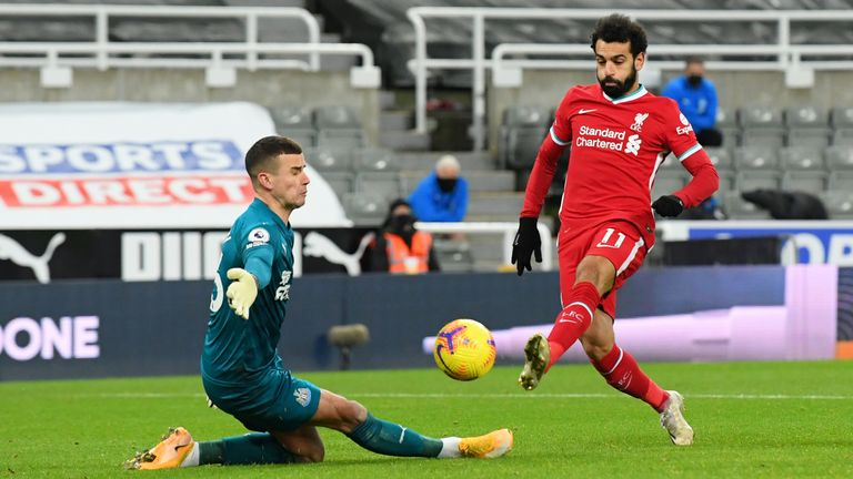 Liverpool Mohammed Salah Test Newcastle Karl Darlow