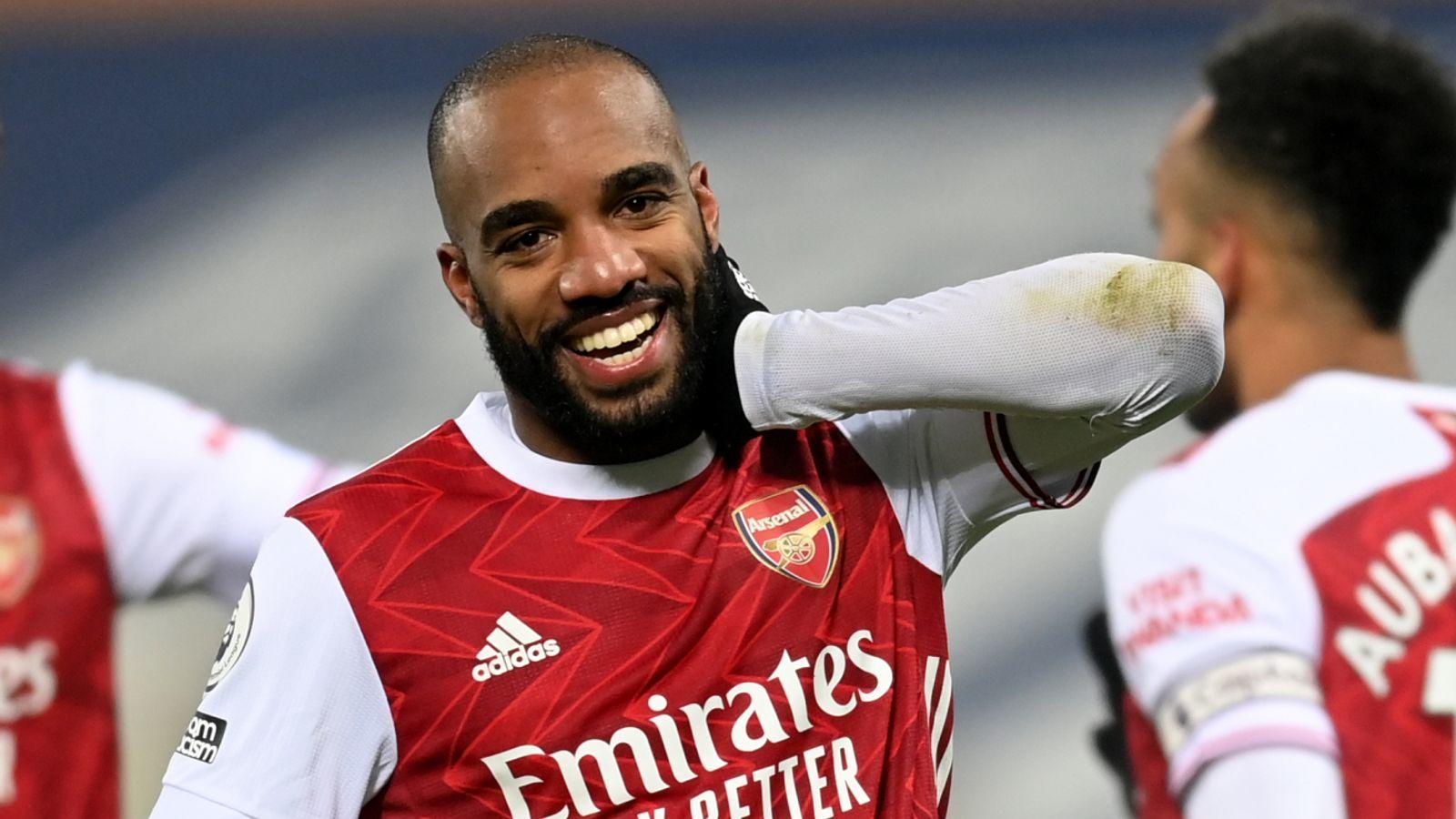 Alexandre Lacazette Arsenal FC Vs West Brom