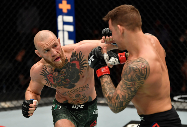 Conor McGregor Punches Dustin Poirier UFC 257