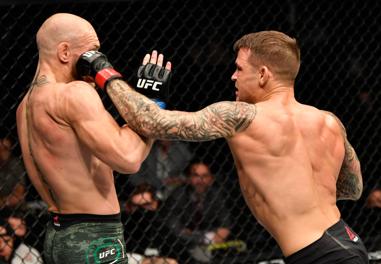 Dustin Poirier Conor McGregor Left Hook UFC 257