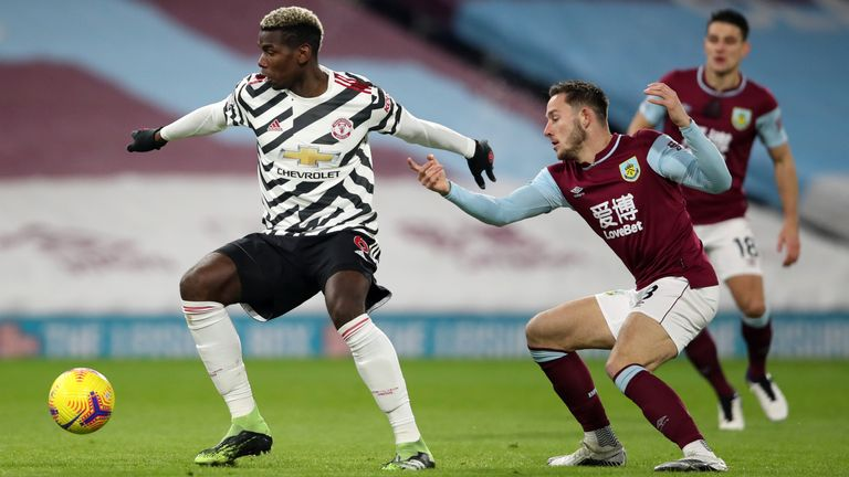 Paul Pogba Manchester United Vs Burnley