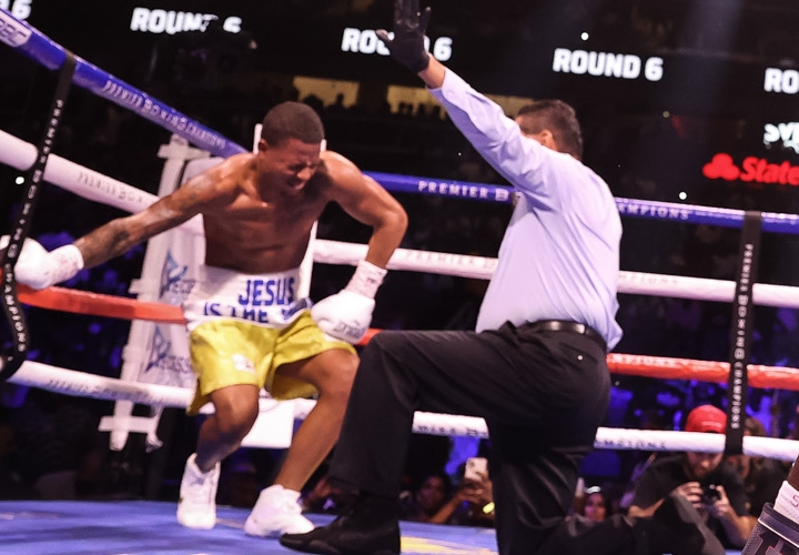 Jeison Rosario In pains After Erikson Lubin's Punch