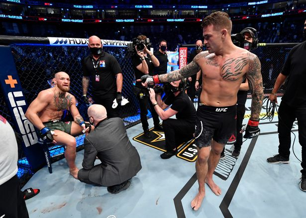 Dustin Poirier Points At Conor McGregor After UFC 257 Win