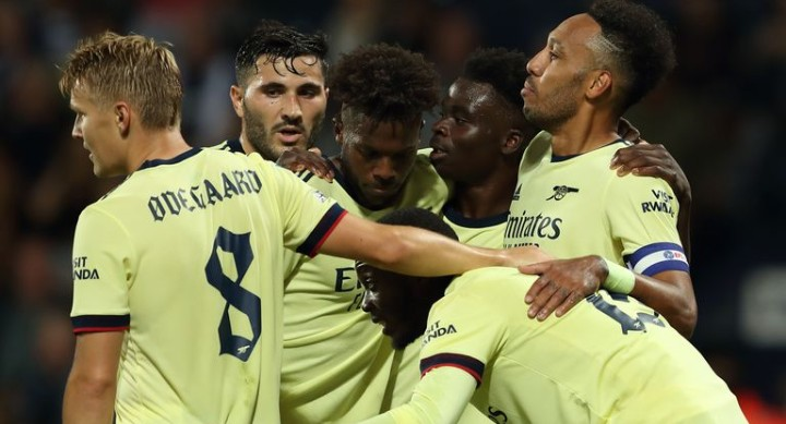 Aubameyang Celebrates Hat-Trick Against West Brom Carabao Cup