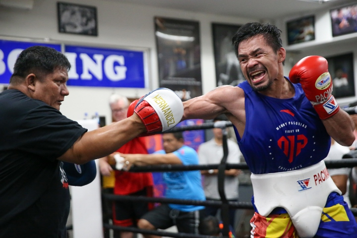 Manny Pacquiao Training for Keith Thurman Fight