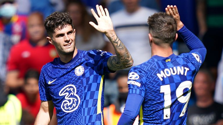 Christian Pulisic Chelsea FC Vs Crystal Palace