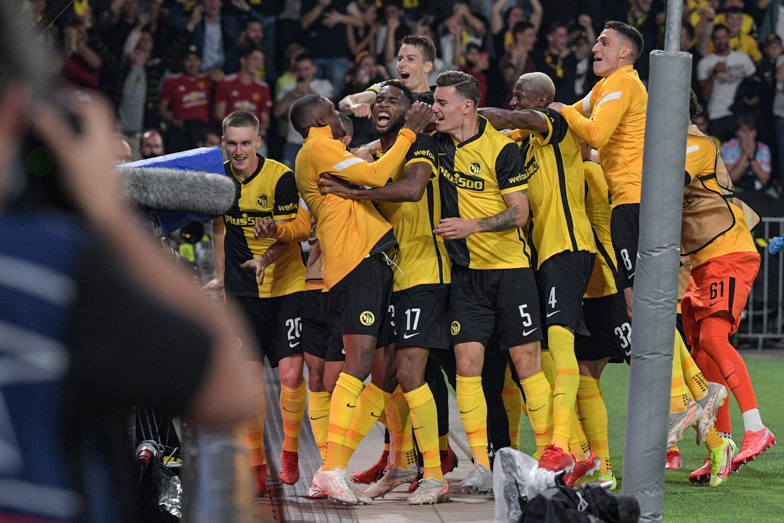 Young Boys Celebrate Manchester United UEFA Champions League Win