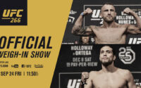 UFC 266 Official Weigh In Results