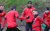 Manchester United Players training at Carrington