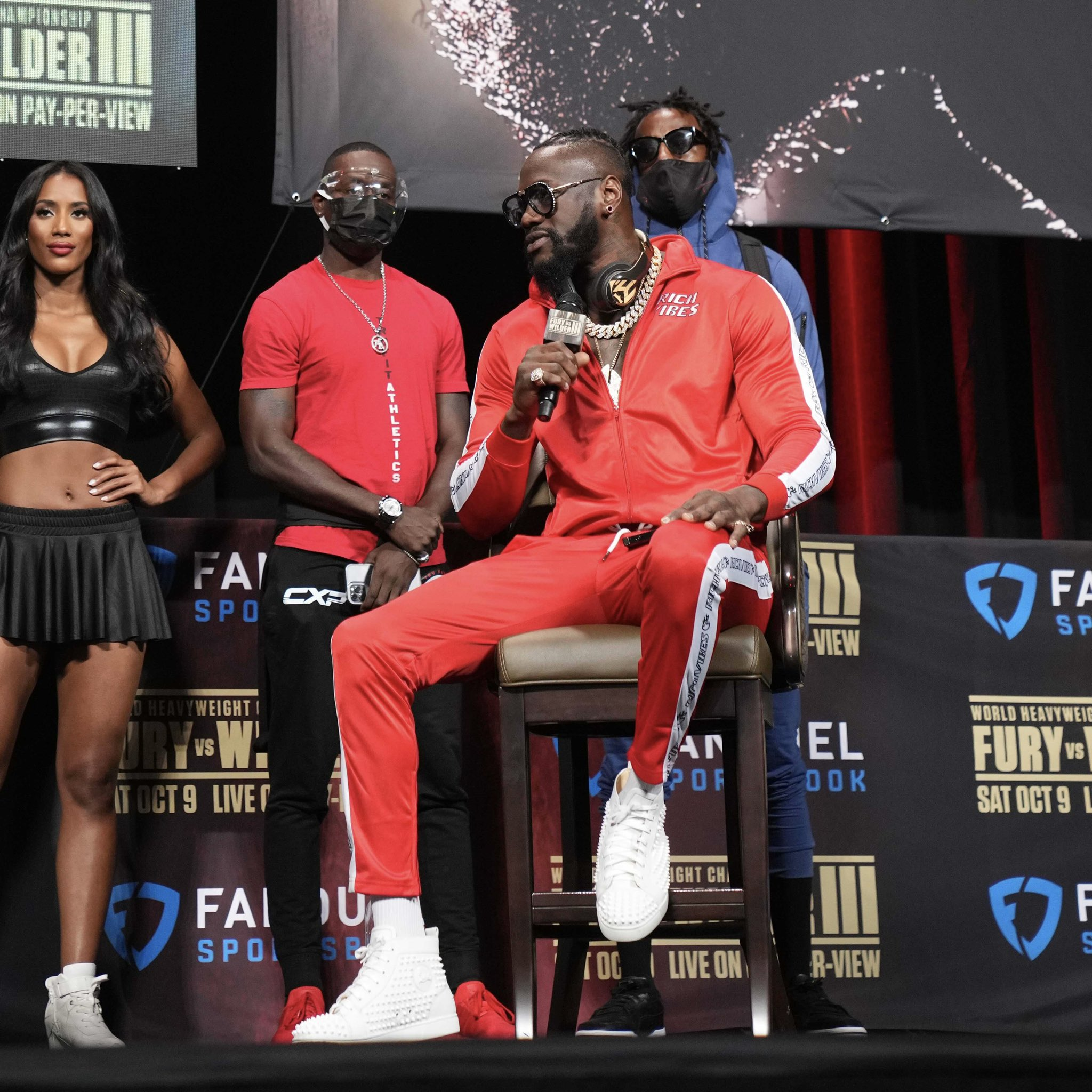 Deontay Wilder At Fury Wilder 3 Press conference