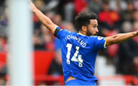 Andros Townsend celebrates Goal Manchester United vs Everton FC